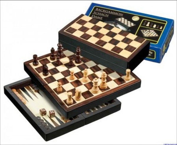 Backgammon Schaken Checkers Reisset