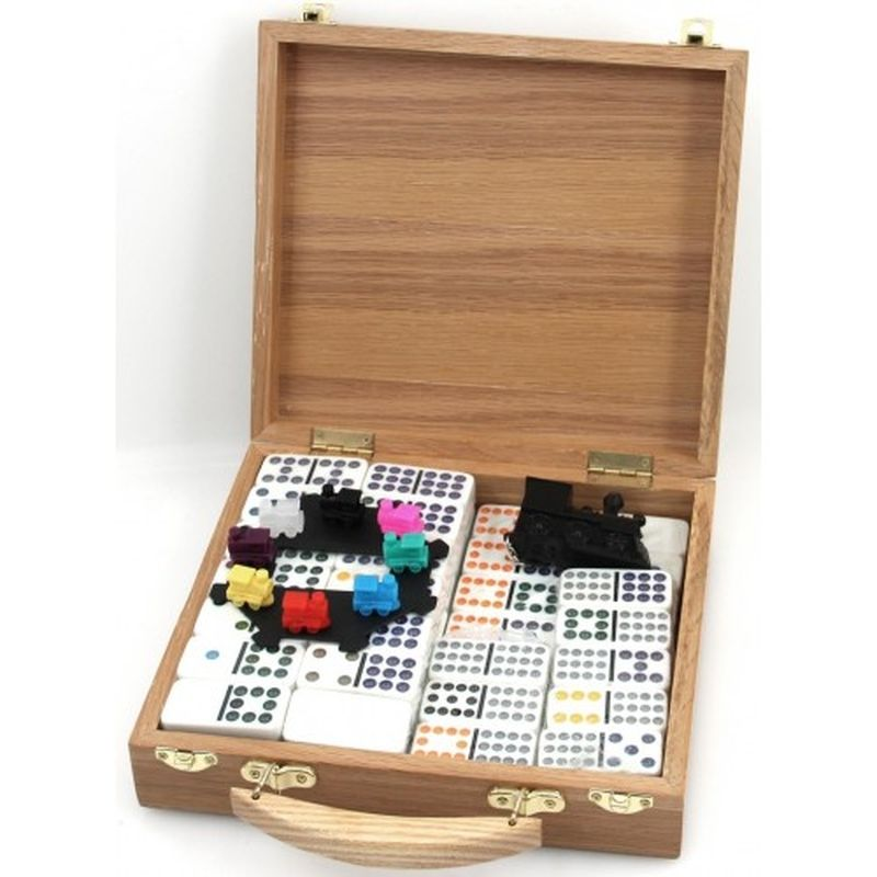Domino Mexican Train (Wooden chest)