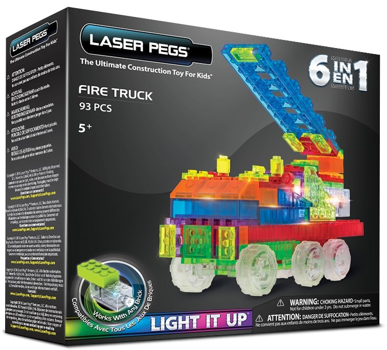 Laser Pegs 6 in 1 Fire Truck