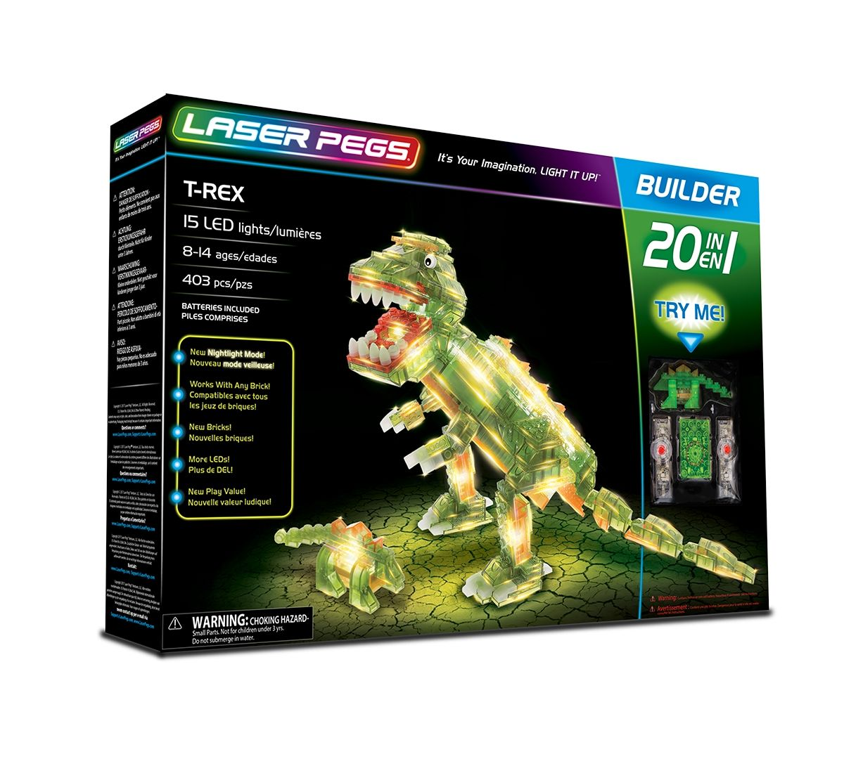 Laser Pegs 20 in 1 T-Rex