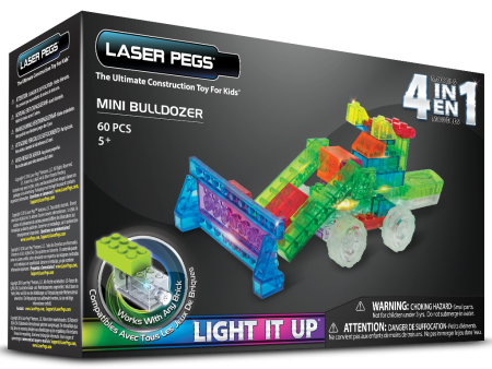 Laser Pegs 4 in 1 Mini Bulldozer
