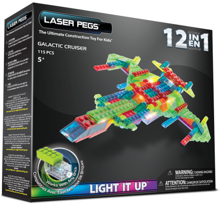 Laser Pegs 12 in 1 Galactic Cruiser