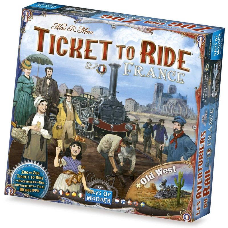 Ticket to Ride Frankrijk + Old West (Uitbreiding)