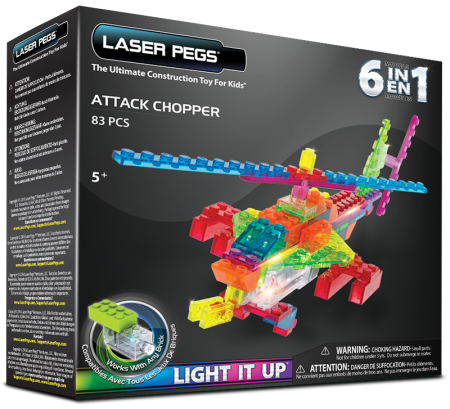 Laser Pegs 6 in 1 Attack Chopper