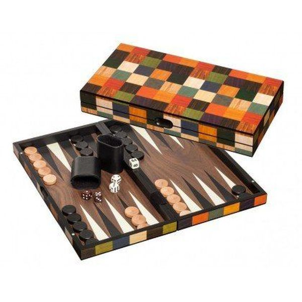 Backgammon Koffer, medium, Fourni