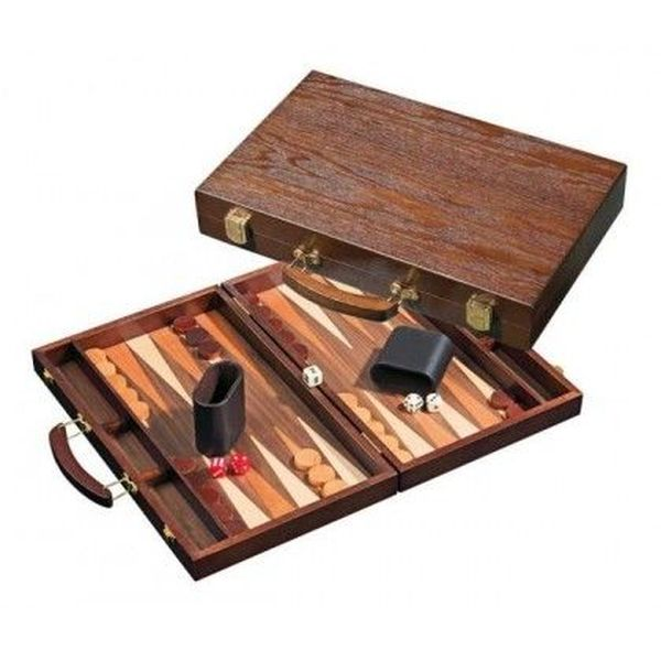 Backgammon koffer, medium Syros