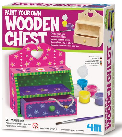Paint Your Own Wooden Chest